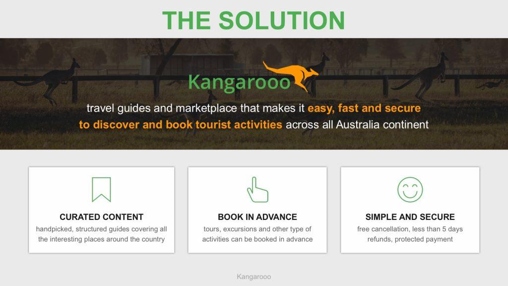 Pitch deck startup kangarooo problème