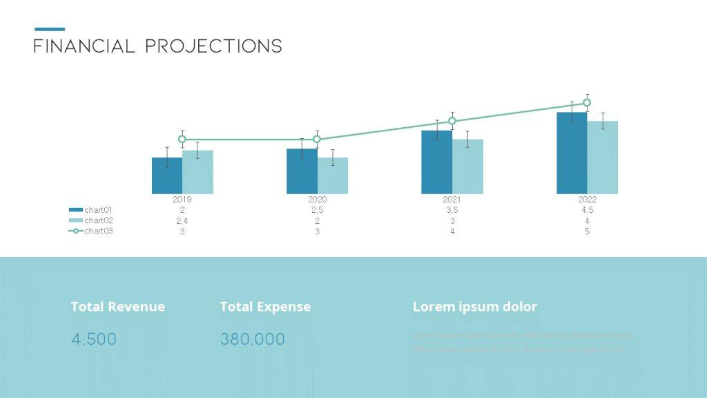 projections financières pitch deck